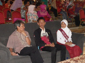 Sitting with the vice mayor of Bogor City (far left)