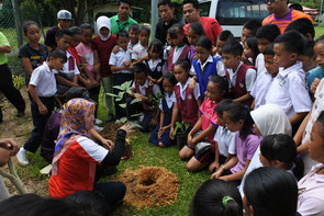 Before tree planting, a lecture is held on the significance of activity and ways of planting