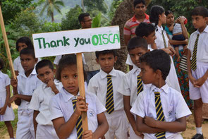 "On ""Peace Walk"", students march expressing thanks to OISCA"
