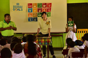 Workshops served as an opportunity to think about and share each other what should be done to achieve the SDGs.