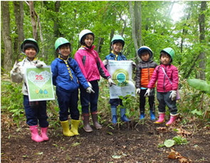"Planting trees on ""Satoyama"" means rual natural area"