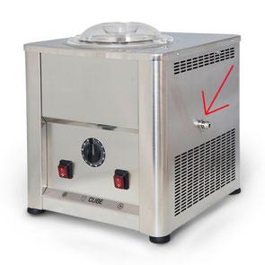 scarico gelatiera Cube 1500