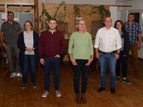 Der neue BfB-Vorstand (v. l. n. r.): Michael Barthel, Maike Bock, Felix Policha, Astrid Sonnemann-Pröhl, Alexander Kott, Sandra Bock, Dirk Wiezer