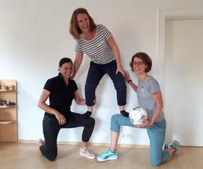 """Im Herbst starten die Kurse """"Kinder in Bewegung"""" unter der Leitung von (v. li.): Kira Weber, Verena Stadler und Roxy Leupold. Foto: Rummelsberger Diakonie"""