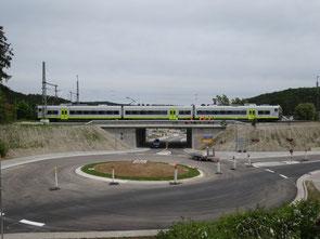 Neu errichtete Bahnüberführung DB Linie Nürnberg – Regensburg