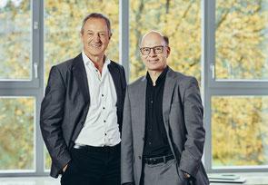 Die Führungsspitze der Helixor Heilmittel GmbH: Oliver Diderich (Vorsitz der Geschäftsführung, im Bild rechts) und Wilfried Waidmann (links). Bild: Helixor