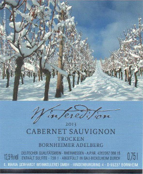 Etikett Winteredition Cabernet Sauvignon