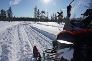 Schneemobil in Lappland