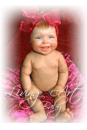 Künstlerpuppe, REborn Baby, Ooak Mini Baby Lea-Maria, Gewinnerin des MOA Kunstpreises 2014, Unikat, reborn doll kit