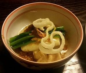 入谷の普茶料理「梵」さんのお餅入り風呂吹き大根