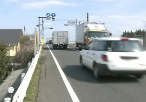 女子高生が事故に遭った現場付近の道路状況