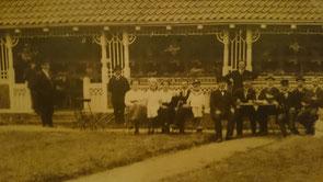 Gemütliches Beisammensein an der 1. Lokalschau 1914