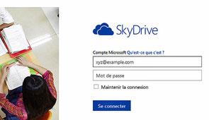 Accueil du site Skydrive