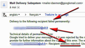 Email fausse
