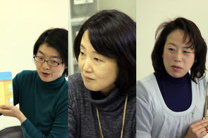 新しく仲間入りした尾崎さん(左)高野さん(中央)、望月さん(右)
