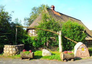 Dorfbrunnen und Jubiläumsstein