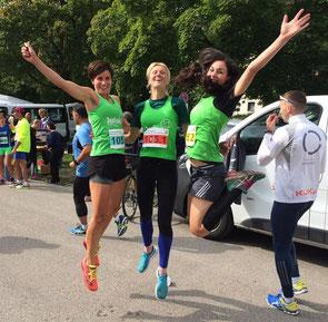 Die Siegerinne der Dreier-Teams: Franziska Strobl, Janine Köhler und Christina Lutz.