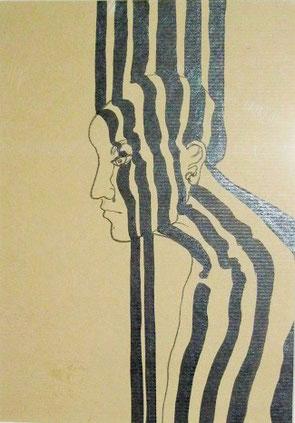 Souvenir d'enfance, dessin, 28 x 19 cm