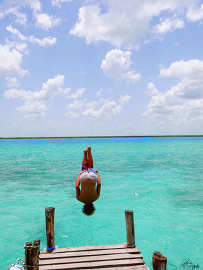 Jumping into paradise