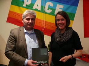 Bürgermeister Pinnhard und Christine Buchholz