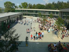 Blick auf die neue Gesamtschule in Melsungen