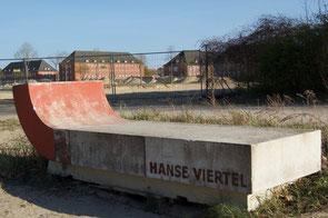 Blick auf den neuen Bauabschnitt Hanseviertel III