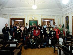 Erasmus+ Gruppenfoto im Rathaus von Avis