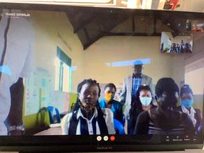 Skype Sitzung mit den Lehrern