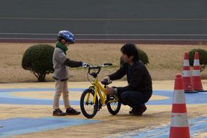 自転車の調整もメカニックがやってくれます