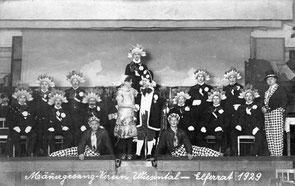 Männergesangverein Wiesental 1929 – Elferrat und Prinz Karneval mit Braut