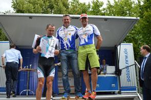 v.l.n.r.: Bernhard Wessing (Organisator RSF Borken), Uwe Rausch, Michael Jakob