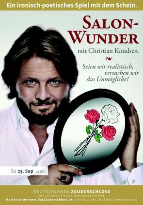 Plakat für Solo im Zauberschloss Schönfeld - Christian Knudsen, Zauberer in Hamburg