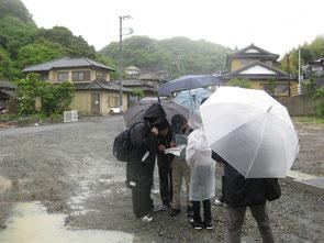 高校1年生の時の津波被害調査のための巡検