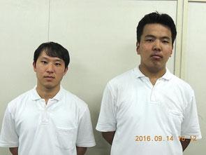 左から 佐藤颯人くん(3年)、藤原和樹くん(3年)
