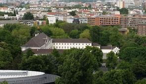 Blick von der Siegessäule auf Schloss Bellevue, Berlin