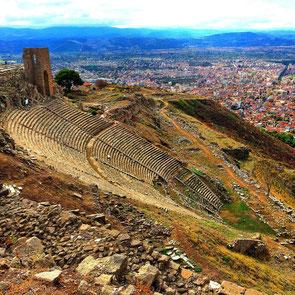 Das steilste hellenistische Theater der Erde Pergamon Akropolis