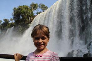 Voici les chutes d'Iguazu...