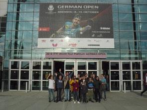 Jugend-Abteilung bei den German Open 2019 in Bremen