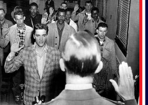 Elvis Presley sworn into U.S. Army
