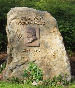 Sebastian - Kneipp - Gedenkstein
