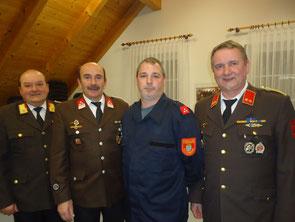 ABI Leopold Geiter, Bgm. EHBM Eduard Ruck, BI Mario Petreczek, OBI Franz Poiss
