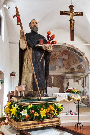 Villavallelonga, statua lignea seicentesca di Sant'Antonio Abate
