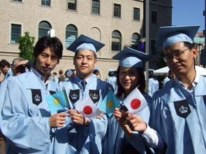 SIPAの卒業式で