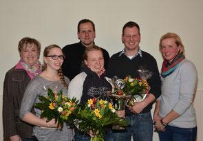 von Links: Anja Ellermann (2. Vorsitzende), Nicole Wellbrlock, Jens Abramowsky (1. Vorsitzender), Cara Schindel, Kilian Wächter und Kassandra Mohr (Sportwartin)   Foto: Ingo Wächter