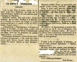 """L'articolo """"Il sogno di Bismarck (Fantasia)"""", 1870"""