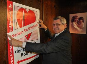 Anton Nagel ist seit 25 Jahren ist seit 25 Jahren das Gesicht des Förderkreises der Kreisklinik Roth. Die Mitgliederwerbung ist ihm nach wie vor ein wichtiges Anliegen.