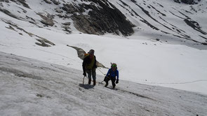 Balade et école de glace au-dessus du refuge