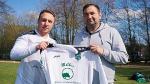 Marcel Hermann mit Sponsor Dennis Miller