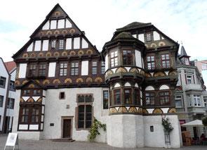 Fachwerkdoppelgiebelhaus fränkischer Art in Höxter