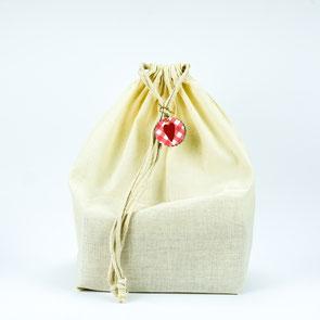 Geschenk im Stoff Beutel - Zerowaste Geschenkverpackung für einen müllfreien Kindergeburtstag